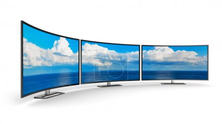 Panoramic curved displays