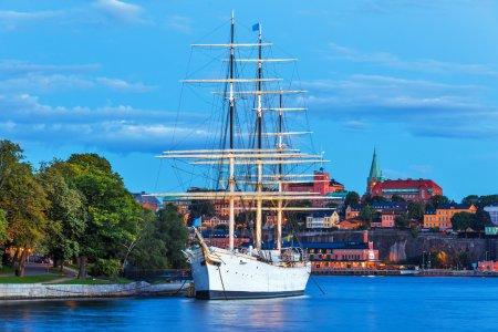 Evening scenery of Stockholm, Sweden