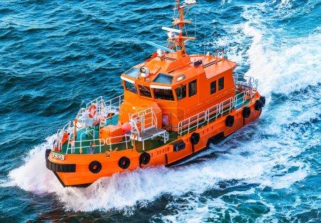 Rescue or coast guard patrol boat