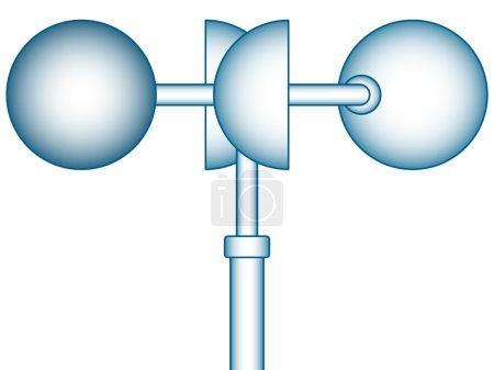 Wind anemometer icon