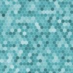 Seamless pattern of the hexagon mosaic tiles