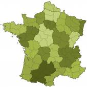 France regions and departments