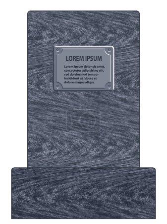 Grey tombstone icon