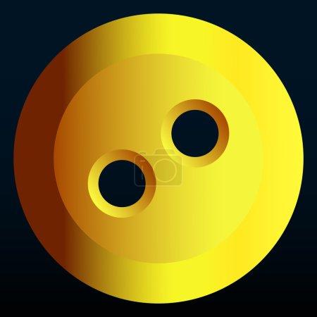 Illustration pour Illustration de l'icône abstraite du bouton jaune - image libre de droit