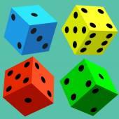 colorful dice cubes