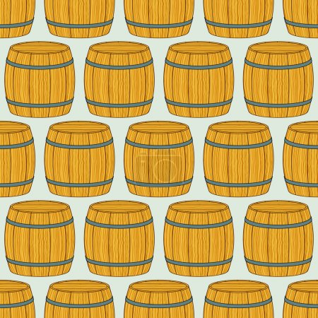 Pattern of the wooden barrels