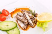 Ryby, zelenina a citronem