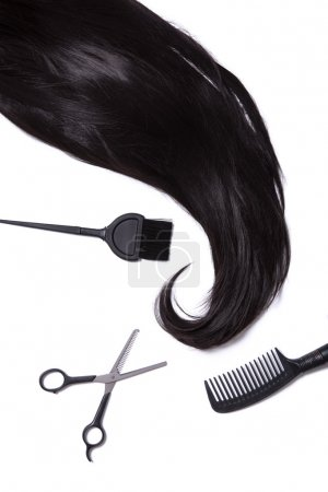 Hairdressing supplies isolated