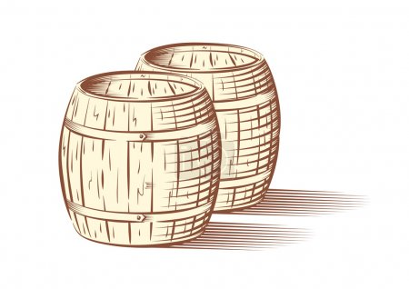 Beer or wine barrels