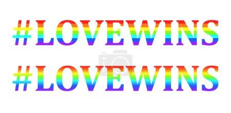 Lovewins words in rainbow colors