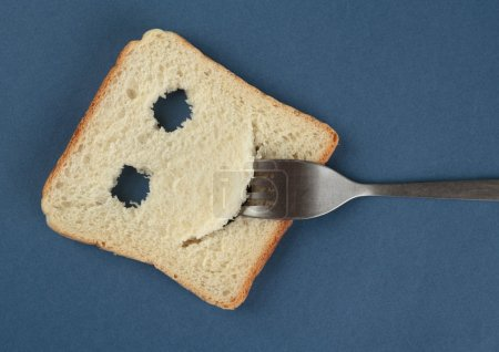 Happy toast with fork