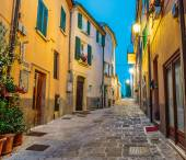 Street in the old town in Italy