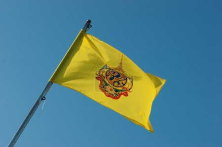Flag of Thailand against the sky