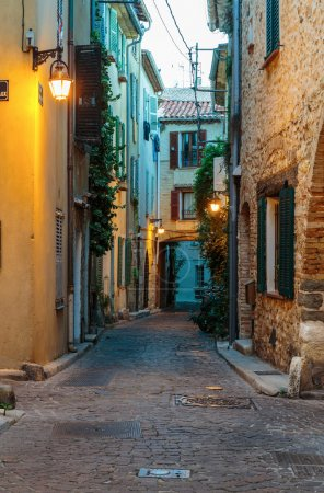 Narrow street in the old town Antibes