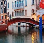 Bridge on canal in Venice