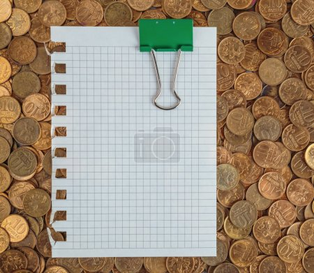 Page  on a pile of coins
