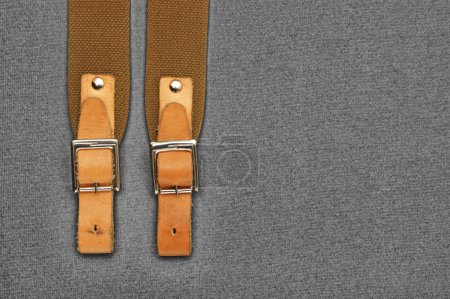 Leather strap with a buckle
