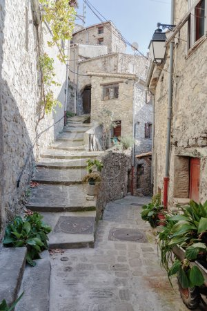 Narrow cobbled streets in the old village