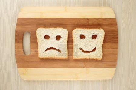 Happy and sad  toasts