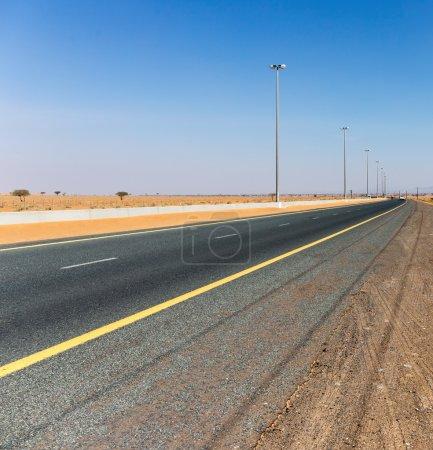 highway in the Arabian desert