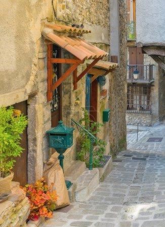 Narrow street in old village Lyuseram