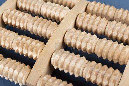 Wooden roller massage tool