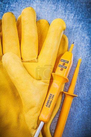 electrical tester, protective gloves