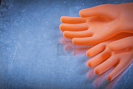 Pair of dielectric rubber gloves