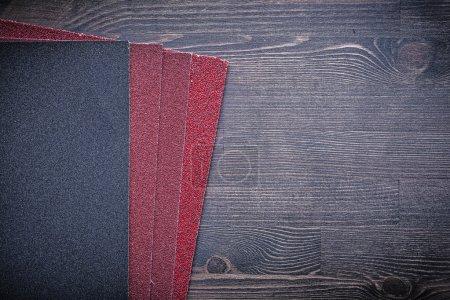 Abrasive paper on board