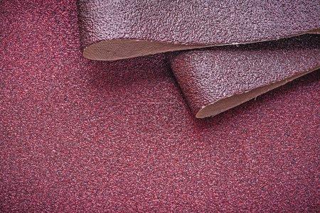 Emery paper on polishing sheet