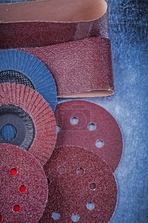 Glass-paper, abrasive discs and wheels