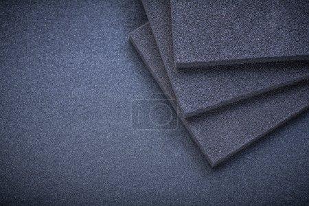 Sanding sponges on emery paper