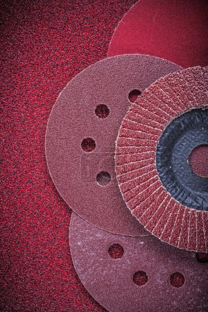 Abrasive flap wheels and sanding discs