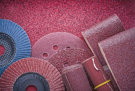 Set of abrasive equipment