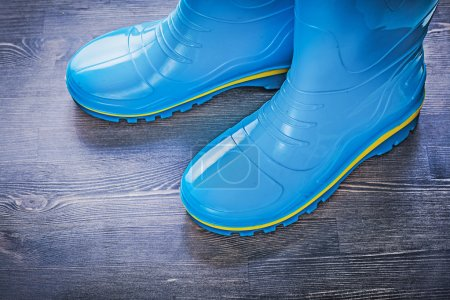 Pair of protective rubber boots