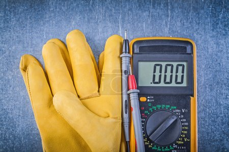 Digital electric tester and safety gloves