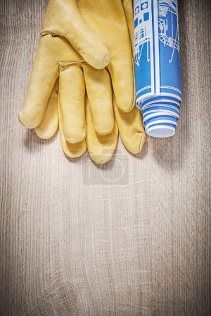 Leather safety gloves and construction plans