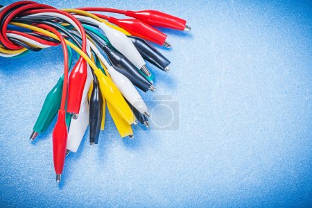 Assortment of electric crocodile clip cables