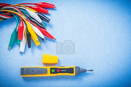 Electric tester indicator and crocodile cables