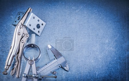 Metal pliers, slide caliper and divider