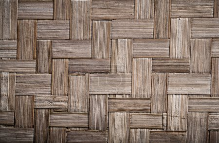 Wicker rowing wooden mat