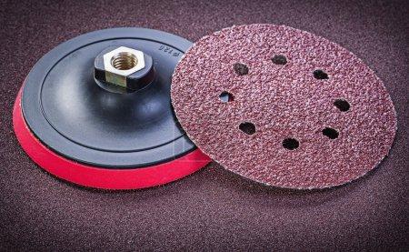 Abrasive discs holder