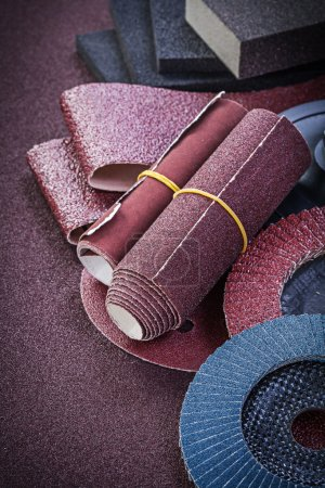 Collection of abrasive tools