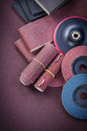 Collection of abrasive materials