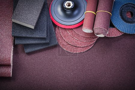 Composition of abrasive tools