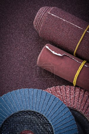 Emery paper abrasive flap wheels