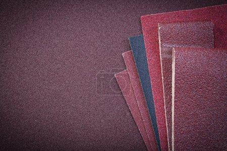 Heap of abrasive paper