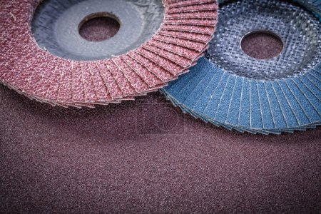 Flap grinding wheels on sandpaper sheet abrasive materials