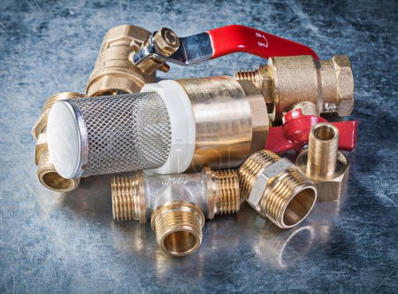 Brass nipple hose connectors lever ball valve with strainer filt