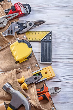 Construction tooling in tool belt